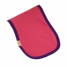 Pink & Purple Trim Plain Burp Cloth