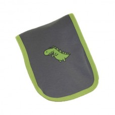 Grey & Green Funky Dino Burp Cloth